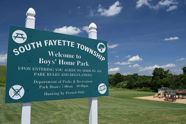Boys Home Park Sign